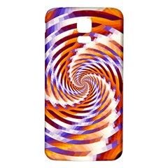 Woven Colorful Waves Samsung Galaxy S5 Back Case (white) by designworld65