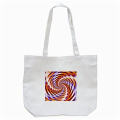 Woven Colorful Waves Tote Bag (white) by designworld65