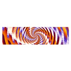 Woven Colorful Waves Satin Scarf (oblong) by designworld65