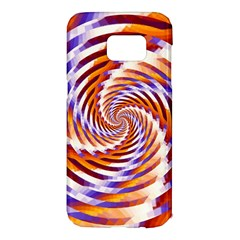 Woven Colorful Waves Samsung Galaxy S7 Edge Hardshell Case by designworld65