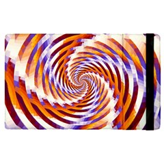 Woven Colorful Waves Apple Ipad Pro 12 9   Flip Case