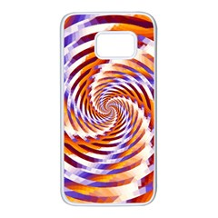 Woven Colorful Waves Samsung Galaxy S7 White Seamless Case by designworld65