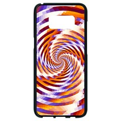 Woven Colorful Waves Samsung Galaxy S8 Black Seamless Case by designworld65