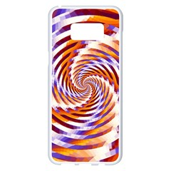Woven Colorful Waves Samsung Galaxy S8 Plus White Seamless Case by designworld65