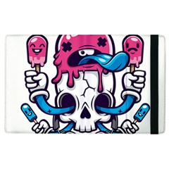 Ice Cream Skull Apple Ipad 3/4 Flip Case by quirogaart