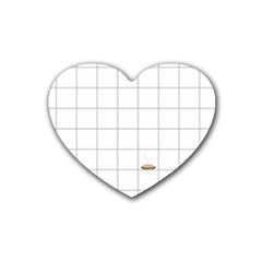 Pie Cooling On The Window Pane Pattern Heart Coaster (4 Pack)  by emilyzragz