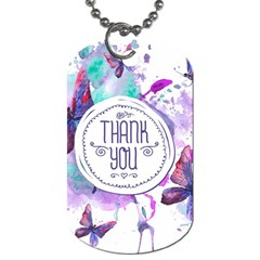 Thank You Dog Tag (two Sides) by Zhezhe
