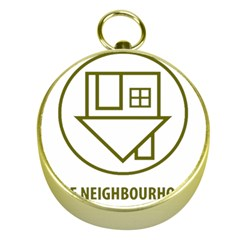 The Neighbourhood Logo Gold Compasses by Zhezhe