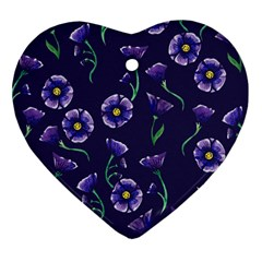 Floral Heart Ornament (two Sides)