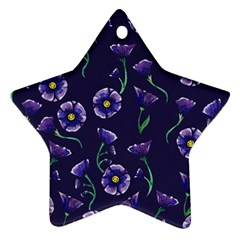 Floral Star Ornament (two Sides)
