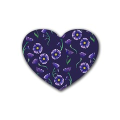 Floral Heart Coaster (4 Pack)  by BubbSnugg