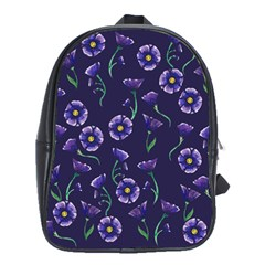 Floral School Bag (large) by BubbSnugg