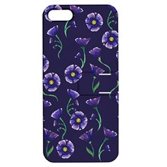 Floral Apple Iphone 5 Hardshell Case With Stand