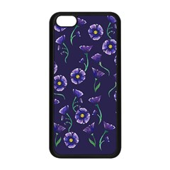 Floral Apple Iphone 5c Seamless Case (black)