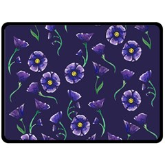 Floral Double Sided Fleece Blanket (large)