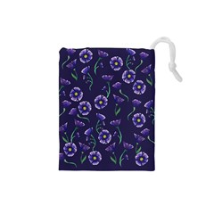 Floral Drawstring Pouches (small)  by BubbSnugg