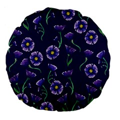 Floral Large 18  Premium Flano Round Cushions