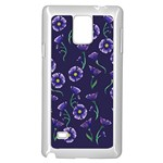 Floral Samsung Galaxy Note 4 Case (White) Front