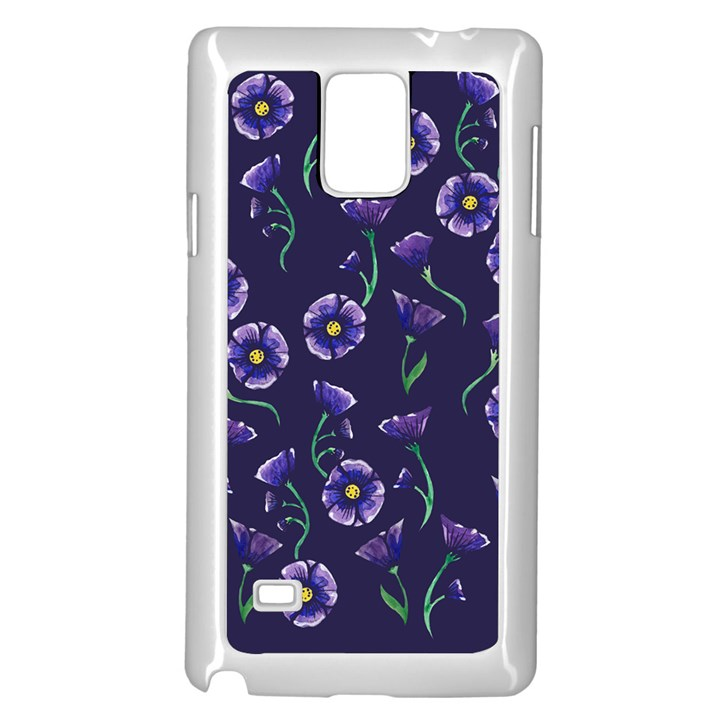 Floral Samsung Galaxy Note 4 Case (White)