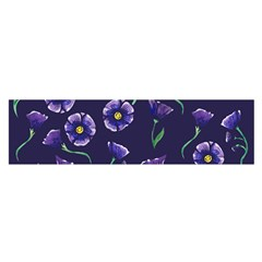 Floral Satin Scarf (oblong)