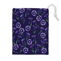 Floral Drawstring Pouches (extra Large) by BubbSnugg