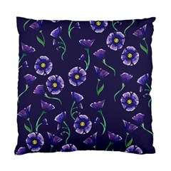 Floral Violet Purple Standard Cushion Case (two Sides) by BubbSnugg