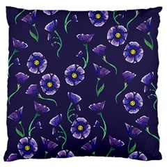 Floral Violet Purple Standard Flano Cushion Case (two Sides) by BubbSnugg