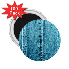 Denim Jeans Fabric Texture 2 25  Magnets (100 Pack)  by paulaoliveiradesign