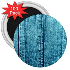 Denim Jeans Fabric Texture 3  Magnets (100 Pack) by paulaoliveiradesign