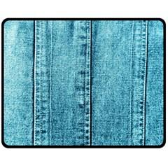 Denim Jeans Fabric Texture Fleece Blanket (medium)  by paulaoliveiradesign