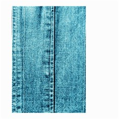 Denim Jeans Fabric Texture Small Garden Flag (two Sides) by paulaoliveiradesign