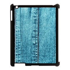 Denim Jeans Fabric Texture Apple Ipad 3/4 Case (black) by paulaoliveiradesign
