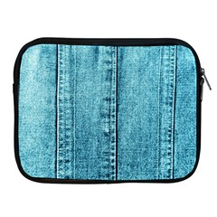 Denim Jeans Fabric Texture Apple Ipad 2/3/4 Zipper Cases by paulaoliveiradesign