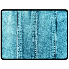 Denim Jeans Fabric Texture Double Sided Fleece Blanket (large)  by paulaoliveiradesign