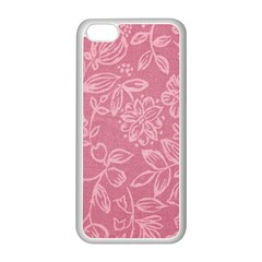 Floral Rose Flower Embroidery Pattern Apple Iphone 5c Seamless Case (white) by paulaoliveiradesign
