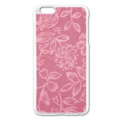 Floral Rose Flower Embroidery Pattern Apple Iphone 6 Plus/6s Plus Enamel White Case by paulaoliveiradesign