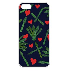 Asparagus Lover Apple Iphone 5 Seamless Case (white) by BubbSnugg