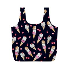 Ice Cream Lover Full Print Recycle Bags (m)  by BubbSnugg