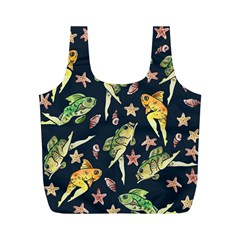 Reverse Mermaids Full Print Recycle Bags (m)  by BubbSnugg