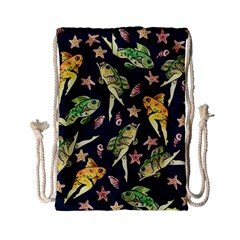 Reverse Mermaids Drawstring Bag (small) by BubbSnugg