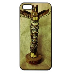 Totem Pole Apple Iphone 5 Seamless Case (black) by sirhowardlee