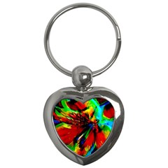 Flowers With Color Kick 1 Key Chains (heart)  by MoreColorsinLife