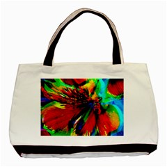 Flowers With Color Kick 1 Basic Tote Bag by MoreColorsinLife