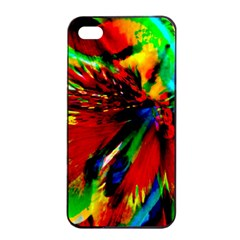 Flowers With Color Kick 1 Apple Iphone 4/4s Seamless Case (black) by MoreColorsinLife