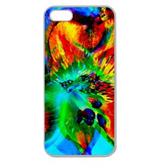 Flowers With Color Kick 2 Apple Seamless Iphone 5 Case (clear) by MoreColorsinLife