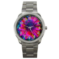 Flowers With Color Kick 3 Sport Metal Watch by MoreColorsinLife