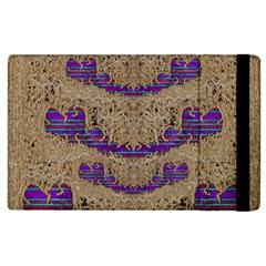 Pearl Lace And Smiles In Peacock Style Apple Ipad 3/4 Flip Case by pepitasart