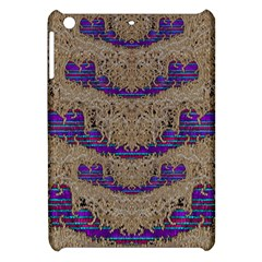 Pearl Lace And Smiles In Peacock Style Apple Ipad Mini Hardshell Case by pepitasart