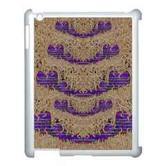 Pearl Lace And Smiles In Peacock Style Apple Ipad 3/4 Case (white) by pepitasart