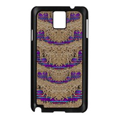 Pearl Lace And Smiles In Peacock Style Samsung Galaxy Note 3 N9005 Case (black) by pepitasart